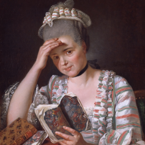 Portrait of woman with book