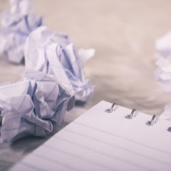 Crumpled notebook paper